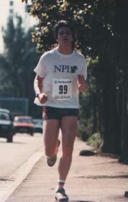 A key image in my improvement from ME/CFS. Running in Aug 89